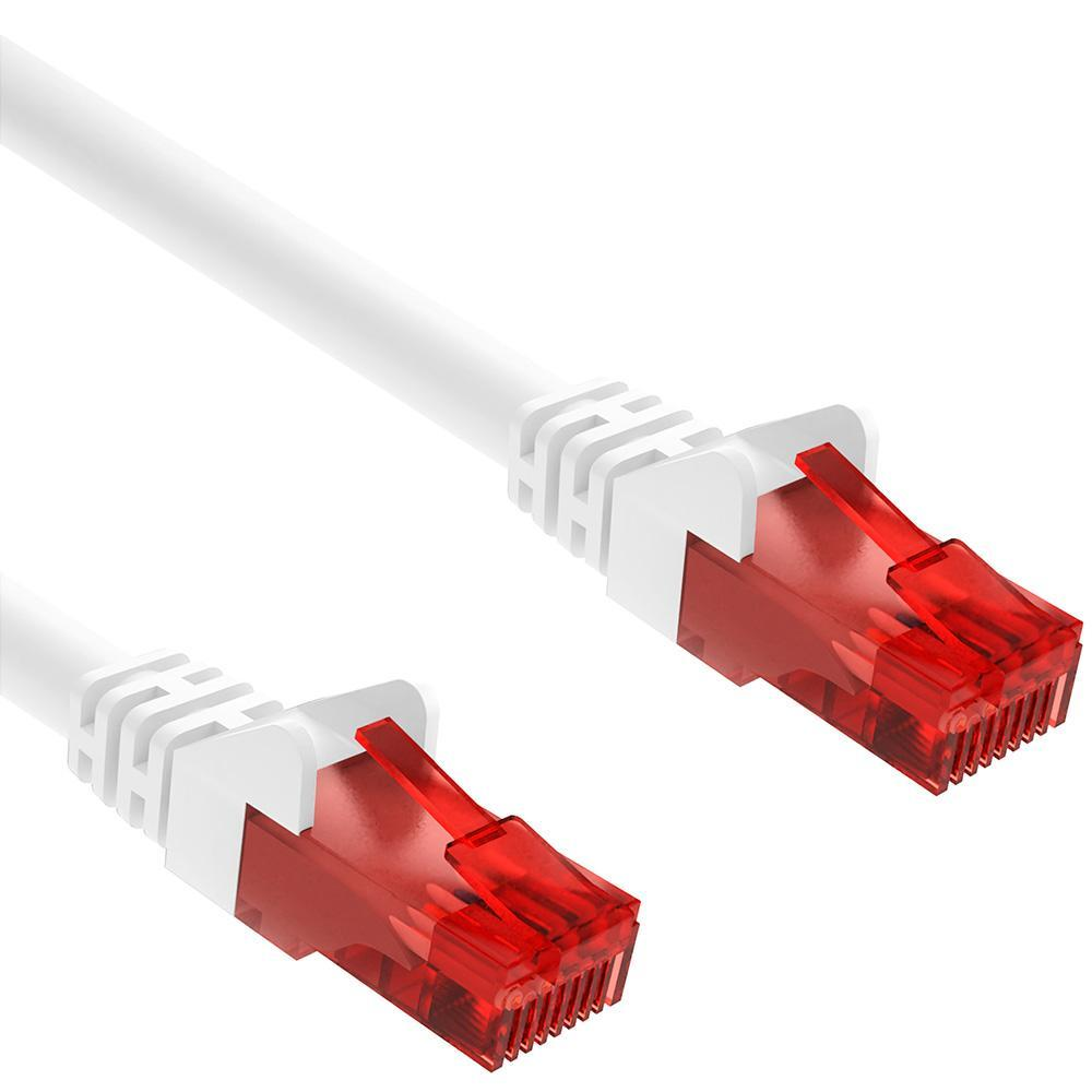 Goobay - CAT 6 U/UTP - PVC - Ethernet kabel - 0.5 m - Wit